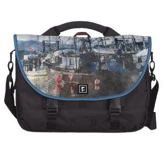 Fishing Fleet & Marina Fishermans Gift Laptop Bags