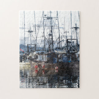 Fishing Fleet & Marina Fishermans Gift Jigsaw Puzzle
