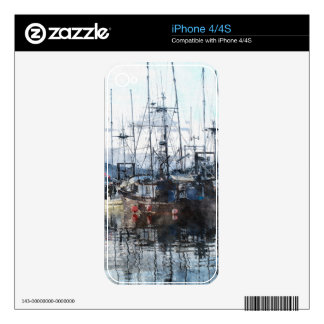 Fishing Fleet & Marina Fishermans Gift Skins For iPhone 4