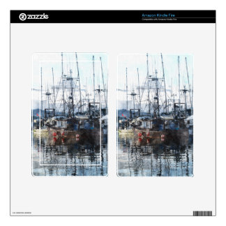 Fishing Fleet & Marina Fishermans Gift Skins For Kindle Fire
