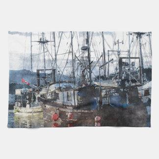 Fishing Fleet & Marina Fishermans Gift Towels