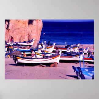 Fishing fleet, The Algarve, Portugal Poster
