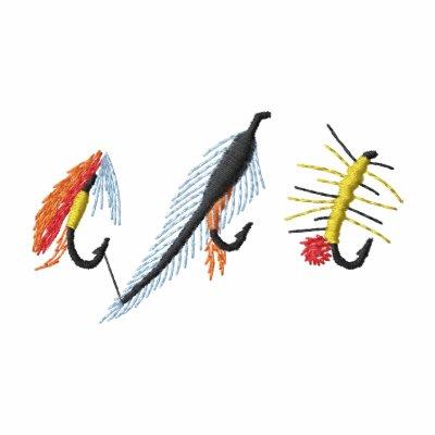 Fishing Flies Embroidered Hoodie