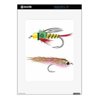 Fishing Flies lures Bug and Minnow Decal For iPad