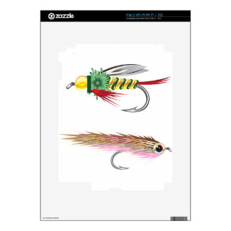 Fishing Flies lures Bug and Minnow Decals For The iPad 2