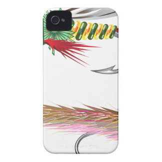 Fishing Flies lures Bug and Minnow iPhone 4 Case