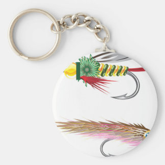 Fishing Flies lures Bug and Minnow Keychain