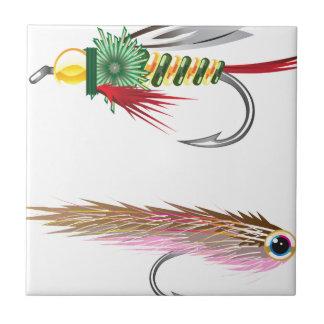 Fishing Flies lures Bug and Minnow Tile