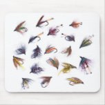 fishing flies mouse pad