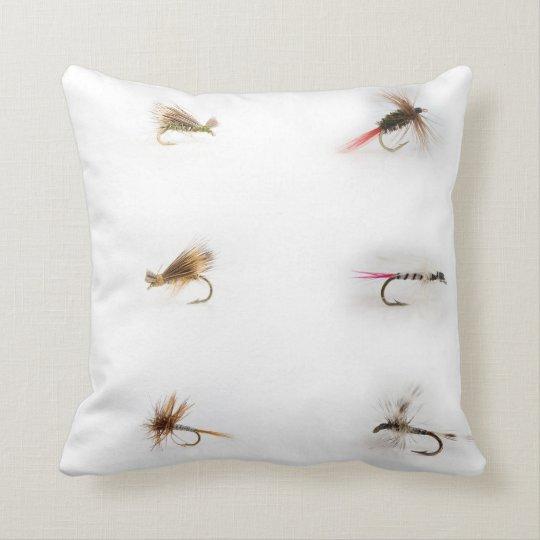 Fishing Flies Throw Pillow