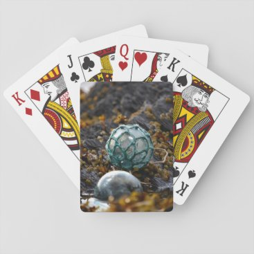 USA Themed Fishing float in tide pool, Alaska Playing Cards