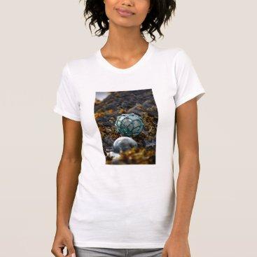 USA Themed Fishing float in tide pool, Alaska T-Shirt