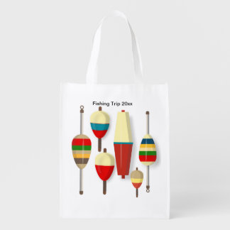 Fishing Floats / Bobbers Reusable Grocery Bag