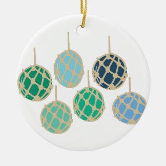 Fishing Floats Ceramic Ornament