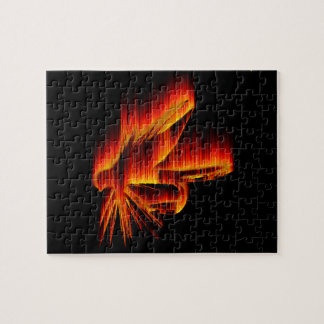 Fishing Fly Flame design Jigsaw Puzzle