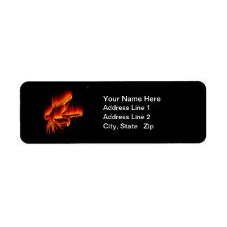 Fishing Fly Flame design Return Address Label