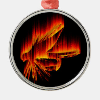 Fishing Fly Flame design Metal Ornament