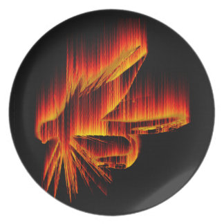 Fishing Fly Flame design Plates