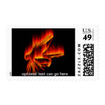 Fishing Fly Flame design Stamp
