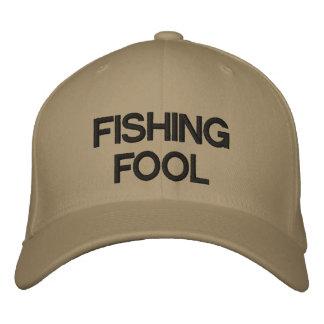 FISHING FOOL EMBROIDERED BASEBALL CAP