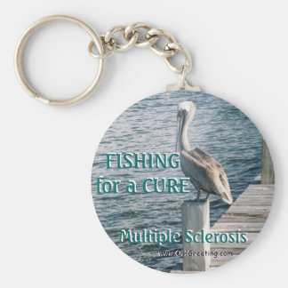 Fishing for a CURE Basic Round Button Keychain