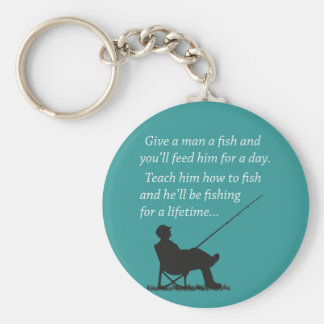 Fishing for a Lifetime Basic Round Button Keychain