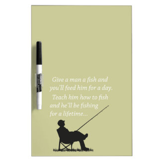 Fishing for a Lifetime Dry Erase Board