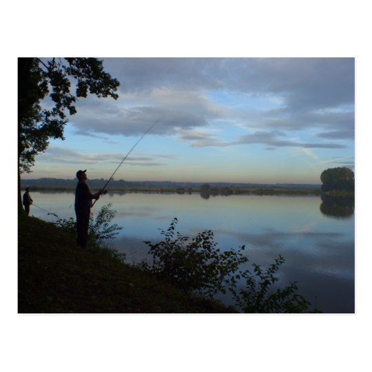Fishing for Beauty Postcard