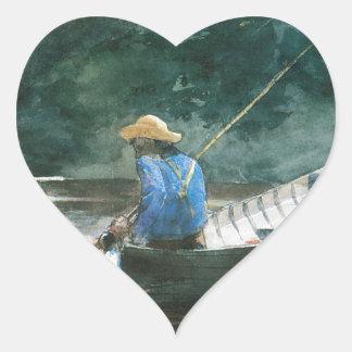 Fishing for Carpe Heart Sticker