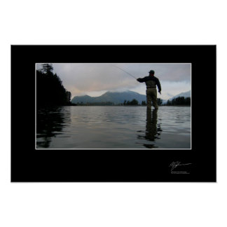 Fishing for coho in BC Poster