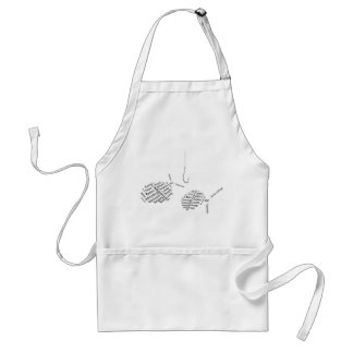 Fishing for compliments adult apron