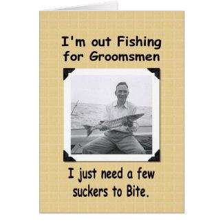 Fishing for Groomsmen Card