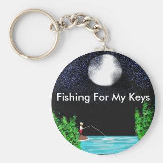 Fishing For My Keys Key Chains