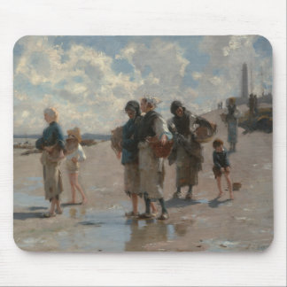 Fishing for Oysters at Cancale - John Sargent Mouse Pad