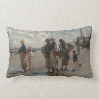 Fishing for Oysters at Cancale - John Sargent Pillows