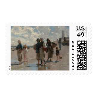 Fishing for Oysters at Cancale - John Sargent Postage