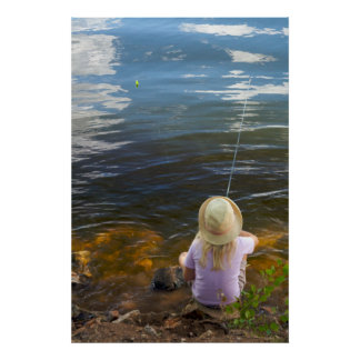 Fishing for Reflection Print