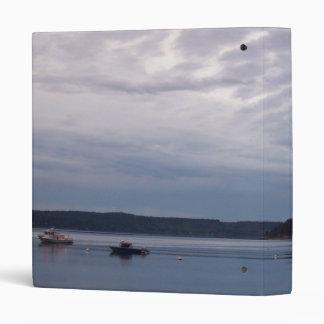 Fishing For Shrimp Vinyl Binder
