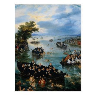 Fishing for Souls by Adriaen van de Venne Postcard