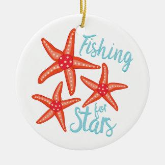 Fishing For Stars Ceramic Ornament