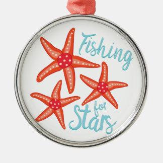 Fishing For Stars Metal Ornament