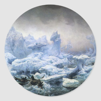 Fishing for Walrus in the Arctic Ocean Classic Round Sticker