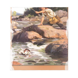 Fishing from the rocks note pad