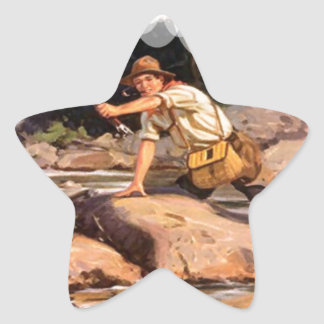 Fishing from the rocks star sticker