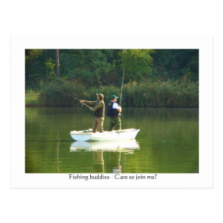 Fishing fun - Let's team up Postcard