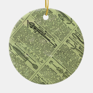 Fishing Gear Ad Ceramic Ornament