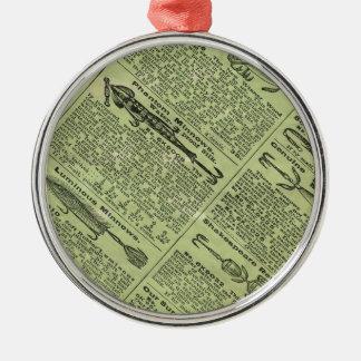 Fishing Gear Ad Metal Ornament