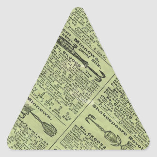 Fishing Gear Ad Triangle Sticker