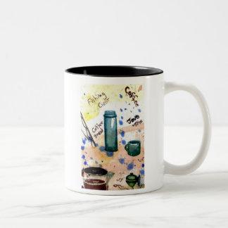 Fishing Gear – cricketdiane coffee designs folk ar Two-Tone Coffee Mug