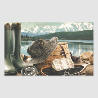 Fishing Gear Rectangular Sticker